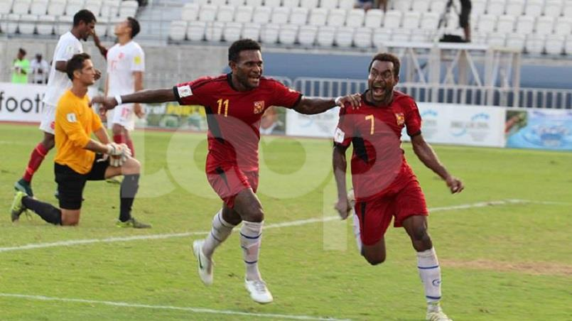 PNG players celebrate