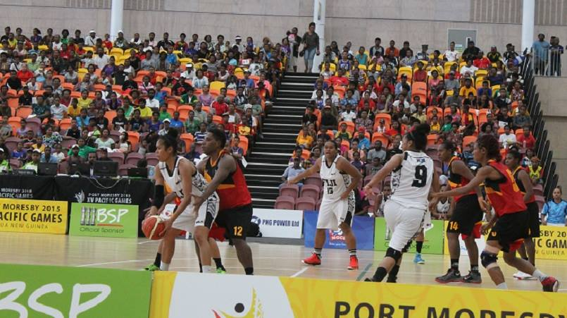 PNG against Fiji basketball team at BSP Arena
