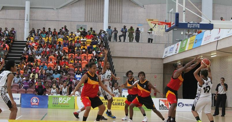 PNG against Fiji basketball team