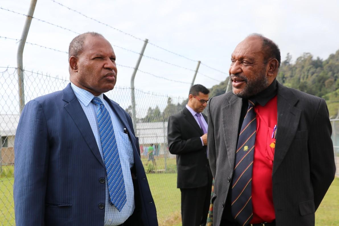 National Planning Minister Richard Maru and Enga Governor Chief Sir Peter Ipatas