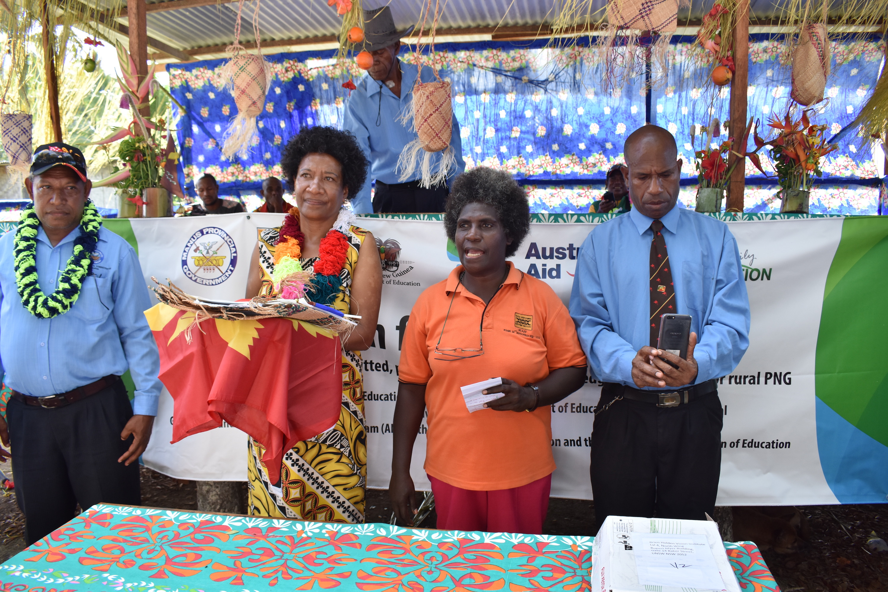 Representatives from PNG Education Institute: Caroline YariYari, Lucy Nakin, Samuel Paulson