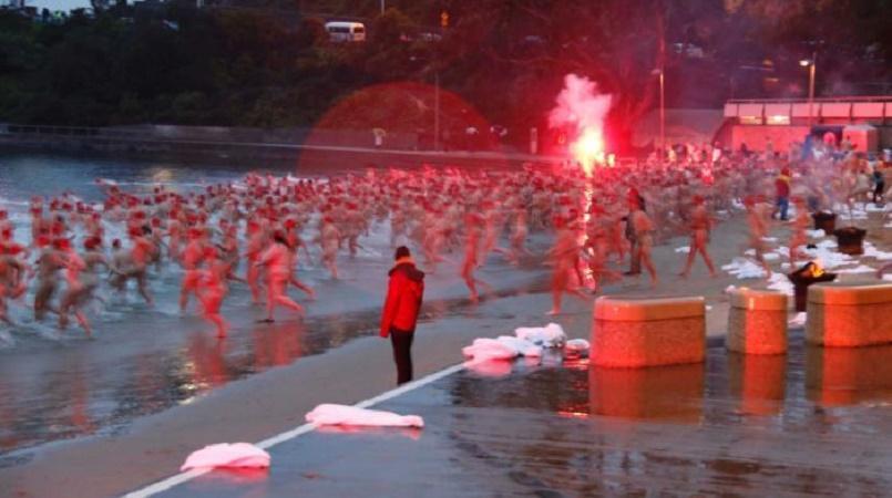 Hundreds mark the winter solstice with naked swim in Australia