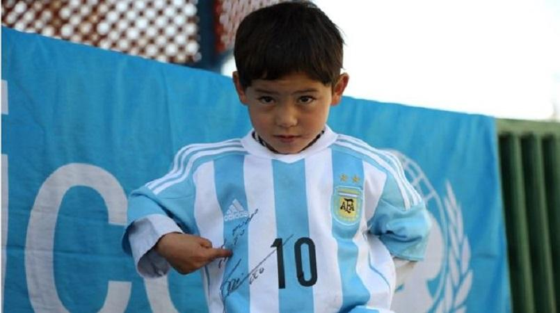 Family's fears for 'little Messi', 7, after Taliban death threat