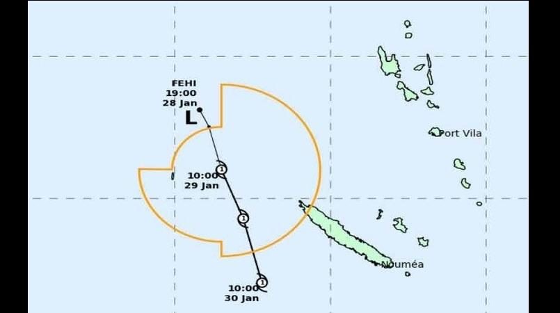 Tropical Cyclone Fehi bound for the South Island, arriving Thursday