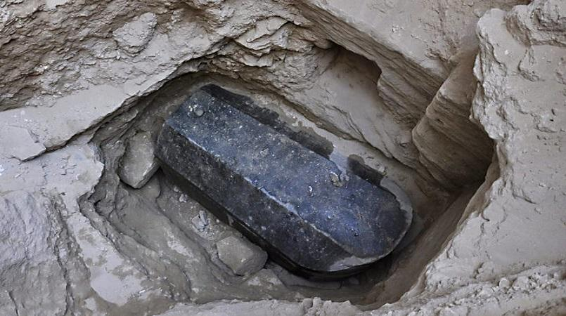 Mysterious Black Sarcophagus Finally Opened in Egypt