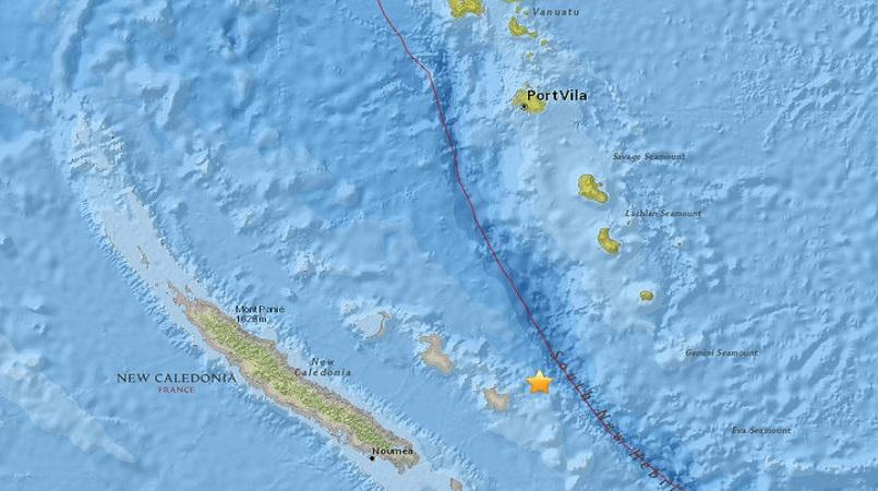 Tsunami warning for New Caledonia and Vanuatu