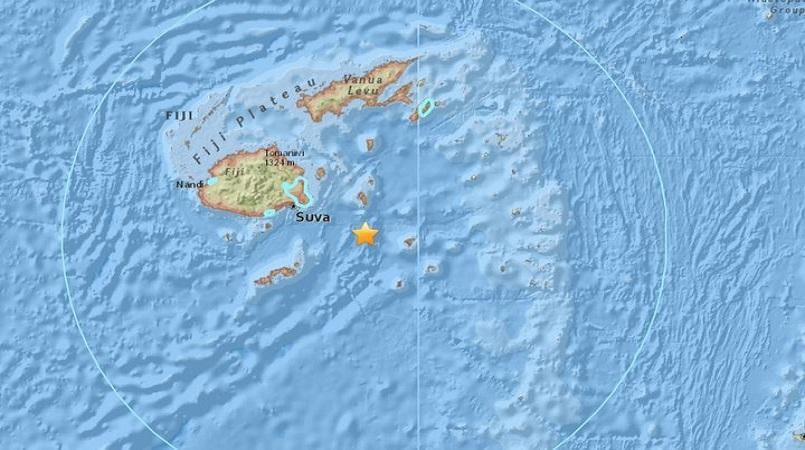 8.1 magnitude natural disaster  hits the coast of Fiji