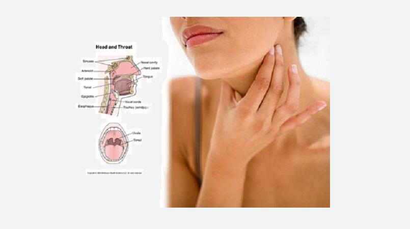 Sore throat flem facial rash