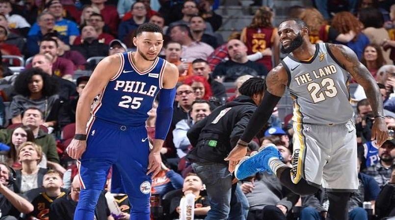 76ers turn tables on LeBron's Cavs, Lakers rout Heat