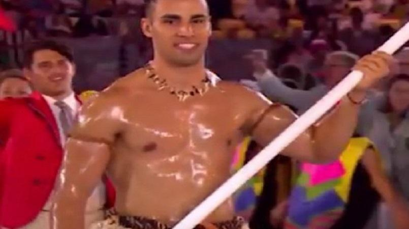 Oily Tongan Flag Bearer Will Make His Competitive Olympics