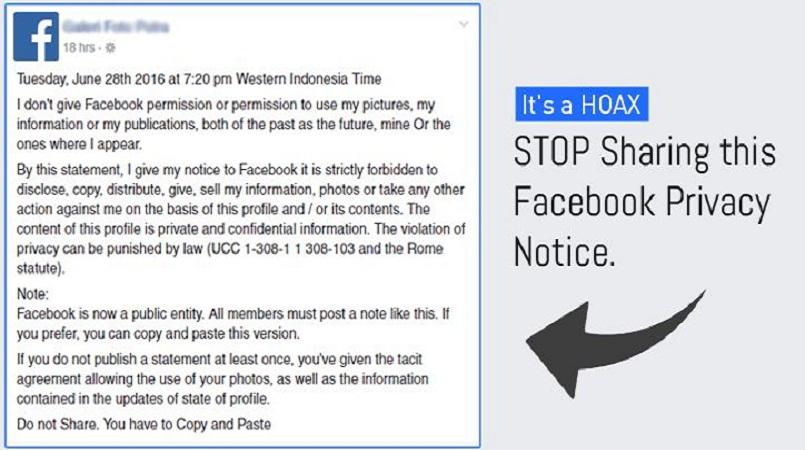 Stop Sharing That Facebook Privacy And Permission Notice ItS A