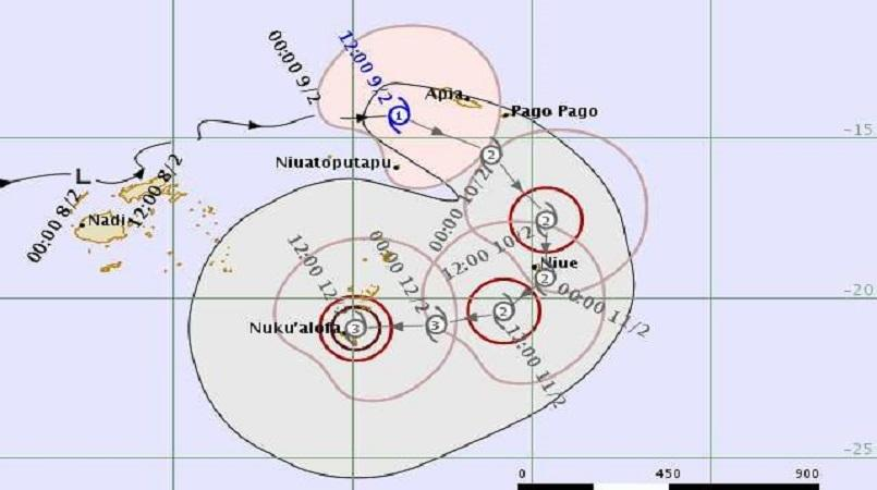Cyclone Gita, still strengthening, set sights on Niue and Tonga