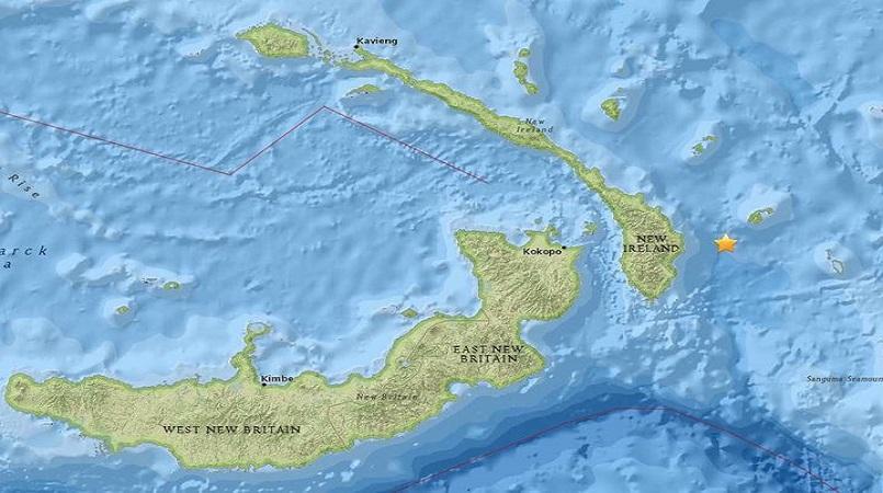 Magnitude 6.8 quake in PNG's islands region