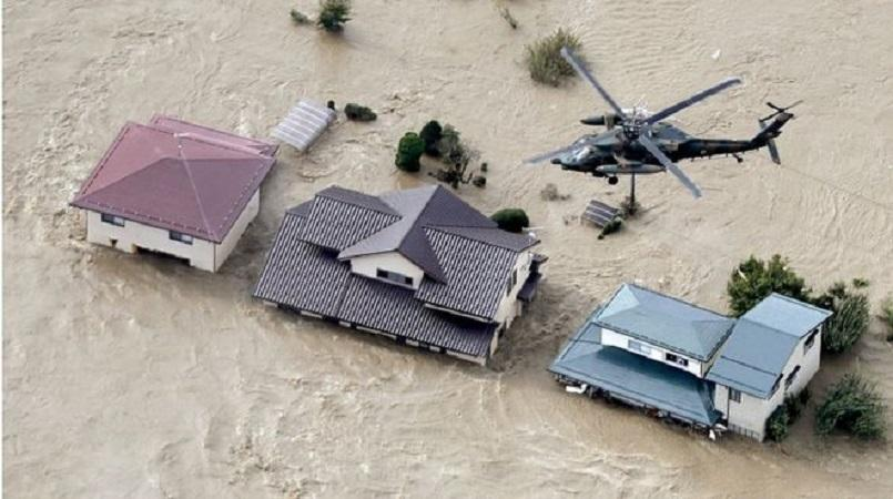 Image result for Typhoon Hagibis: Japan deploys military rescuers as deadly storm hits