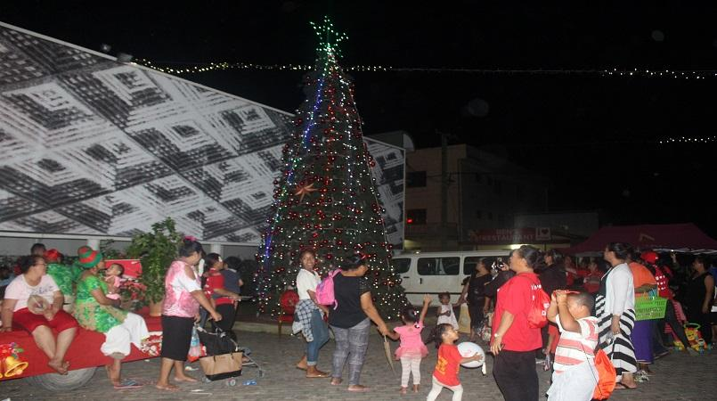lighting of the biggest christmas tree in tonga - Biggest Christmas Tree