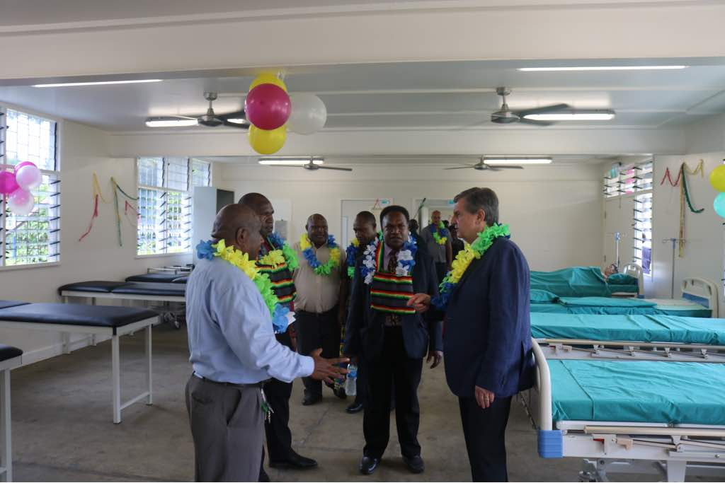 Tour inside the training facility at the Lae School of Nursing