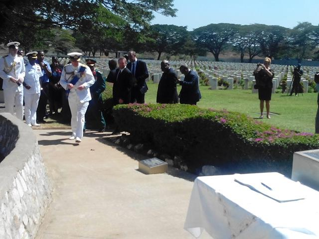 His Royal Highness Prince Andrew visit Bomana War Cemetery
