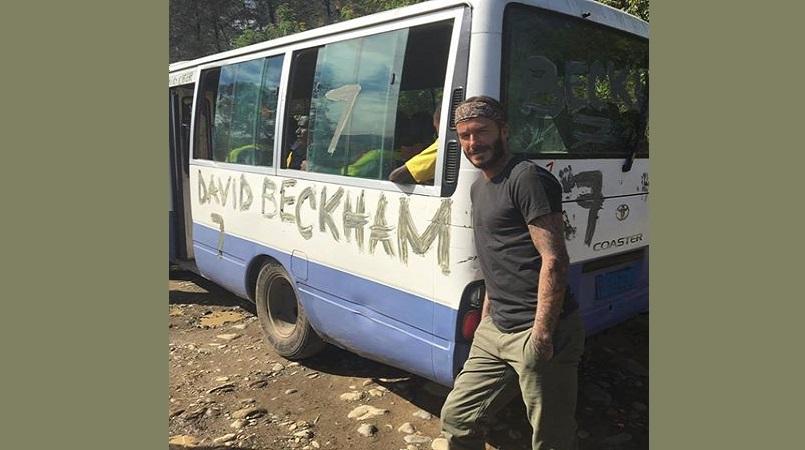 David Beckham in Mt Hagen (Picture by David Beckham Facebook page)