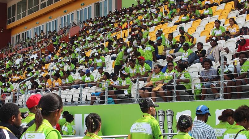 Games Volunteers at the Sir John Guise Stadium