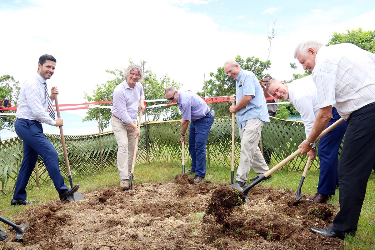 The official ground breaking ceremony at the City Mission Hululan Plantation