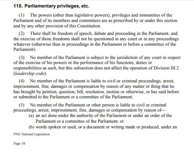 Section 115 of the constitution