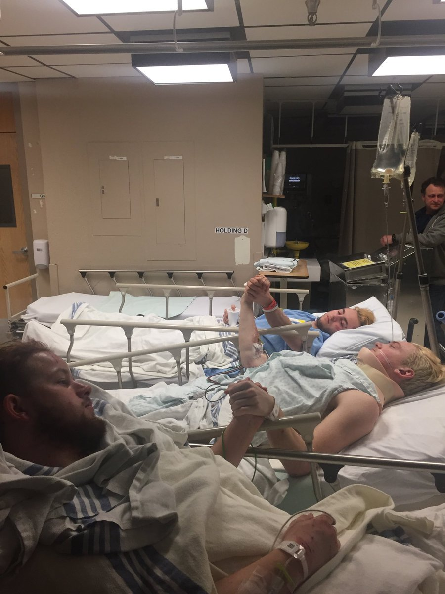 Derek Grayson and Nick bonding and healing in hospital - Picture by R J patter