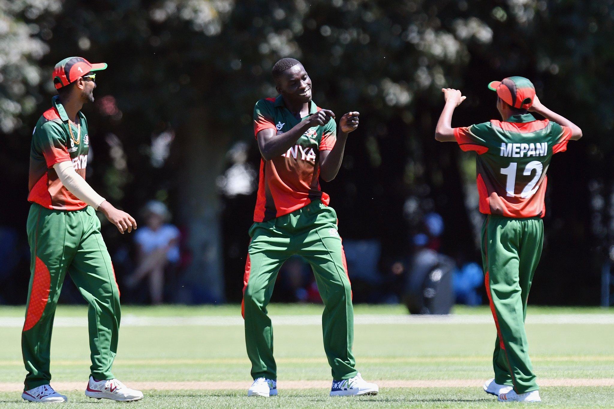 Kenya celebrating
