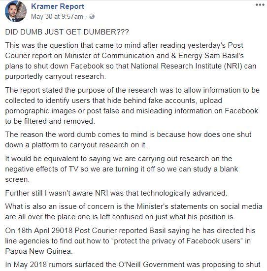 A screenshot of Bryan Kramer's post