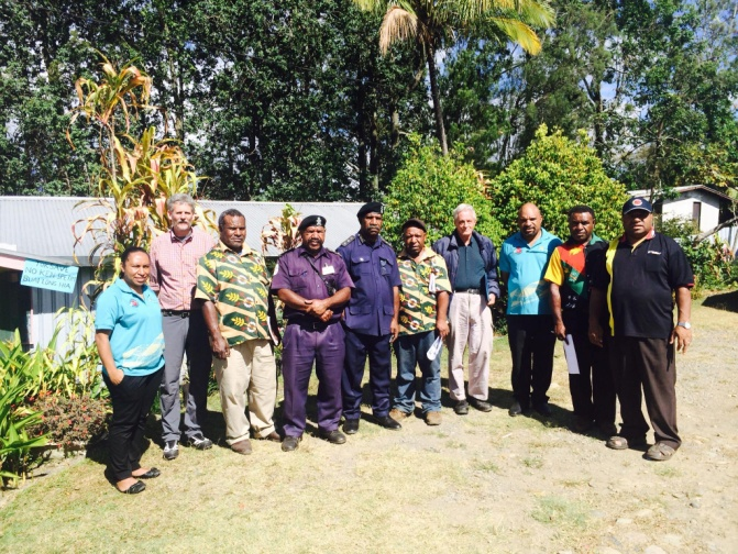 TPA, PNG Fire Service & Kundiawa Gembogl District Officers with Hon. Tobias Kulang MP (right)