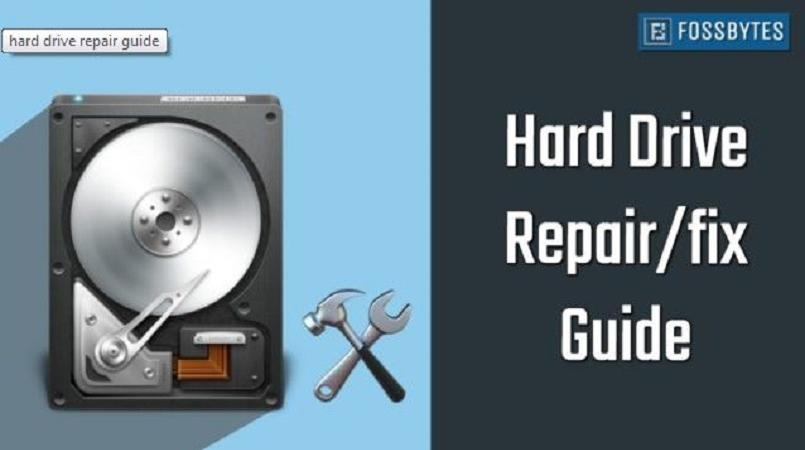 How to repair a corrupted hard drive and fix my storage disk