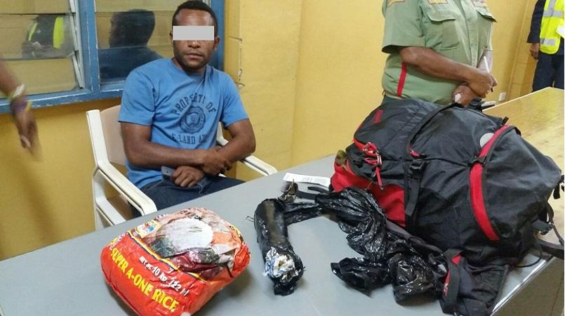 Soldier caught with drugs | Loop PNG