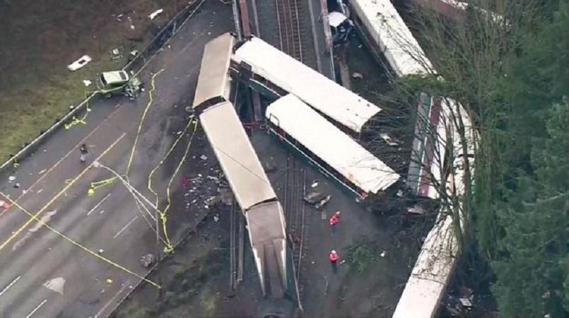 Derailment in Washington which killed three and injured over seventy people on Monday morning
