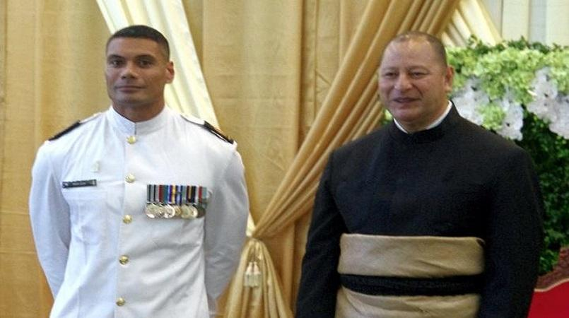 RNZN officer meets King Tupou VI in Tonga | Loop Tonga